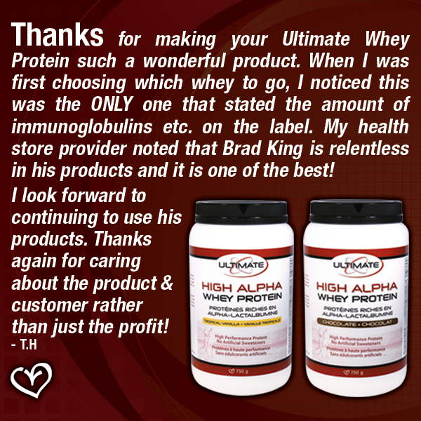 High Alpha Whey Protein Testimonial